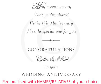 Personalised Inserts Card Greeting For
