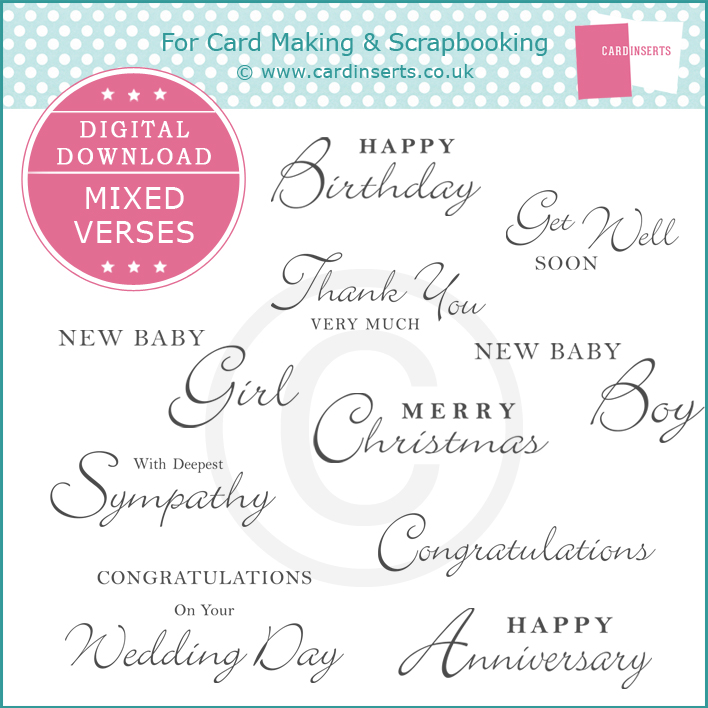 Dd mixed occasions verses card inserts greeting card inserts for dd mixed occasions verses m4hsunfo